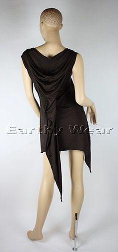 Black dress with hoody
