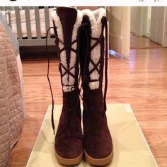 Michael Kors suede boots Very warm and comfortable Michael Kors Shoes Winter & Rain Boots