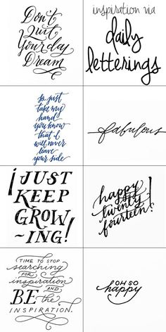 I'M FEATURED!! // Charmingly Styled: daily letterings inspiration // posting my practice on my Daily Letterings pin board and on Tumblr lately if you want to follow along :)