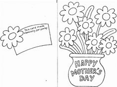 Free Printable Mothers Day Cards TO Color