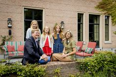 The Dutch Royal Family posed for the media during the annual summer photo session at their residence Villa Eikenhorst in Wassenaar