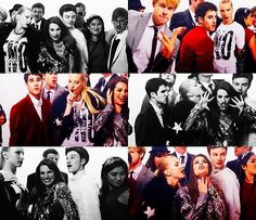 Glee Cast (FASHION'S NIGHT OUT) do you see Kevin and Jenna almost kissing