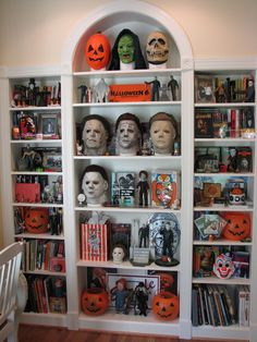 Halloween collection displayed beautifully.