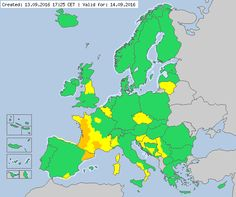 Valid for 14.09.2016  Meteoalarm - severe weather warnings for Europe - Mainpage