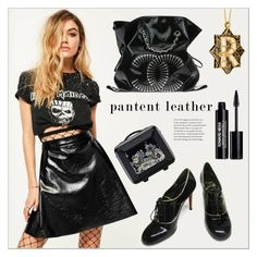 """Patent Leather"" by the-great-closet ❤ liked on Polyvore featuring Missguided, Chanel, Christian Louboutin, Ted Baker and Edward Bess"