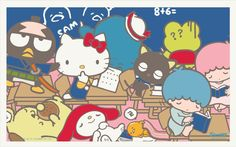My Sanrio Fave - Sanrio Stars Wallpaper, Wallpaper 2016, Sanrio Wallpaper, Perfect Wallpaper, Hello Kitty Wallpaper, Sanrio Characters, Little Twin Stars, Cartoon Movies, My Melody