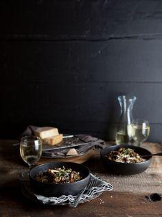 Mushroom and barley 'risotto' on DrizzleandDip.com #recipes #food #vegetarian