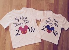 My first Disney trip!   Shirts for the whole family!!! by LaMarimonBoutique on Etsy https://www.etsy.com/listing/247145499/my-first-disney-trip-shirts-for-the