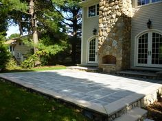 Bluestone Patio - really love this material for patio!