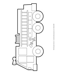 Fire Engine, Lesson Plans - The Mailbox Fire Safety Crafts, Fire Safety Week, Fire Crafts, Truck Coloring Pages, Colouring Pages, Firefighter Birthday, Volunteer Firefighter, Fire Prevention Week, Fire Engine
