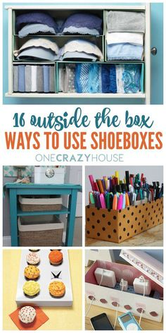 You can use empty shoe boxes for more than holding gifts at birthdays and Christmas or science projects? Here are some creative DIY ideas to help you get the most of your shoeboxes.