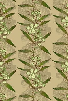- Timorous Beasties Wallcoverings - Oriental Orchid Hand-Print