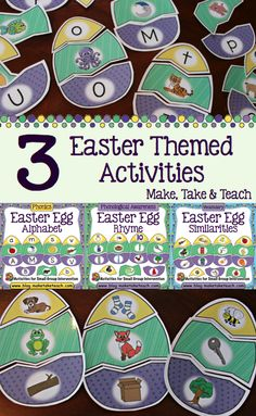 3 Easter themed activities! Rhyme, Beginning Sounds and Vocabulary. Great for centers.