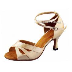 TPS Cream Satin Latin Ballroom Salsa Custom-made Dance Shoes D896 #TPS #Sandals