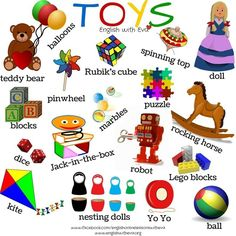 ESL, EFL, English Vocabulary, Toys, English with Eva