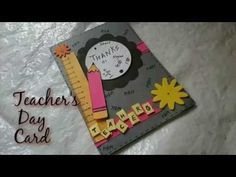 (4) DIY Teacher's Day Card Making Idea | How To |Craftlas - YouTube