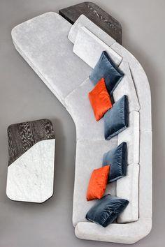 Tuya Sofa, Contemporary Sectional in Holly Hunt Fabrics, Dark Bronze Patina Feet For Sale at Ikea Furniture, Luxury Furniture, Cool Furniture, Furniture Design, Metal Furniture, White Furniture, Futuristic Furniture, Furniture Outlet, Furniture Stores