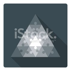 Triangle puzzle - 16 parts royalty-free stock vector art