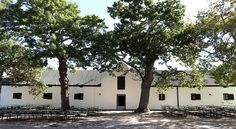 #Spier's Old Wine Cellar has a holbol gable dating back to 1767.