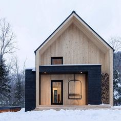 Container House - Villa Boréale / Charlevoix, Quebec // Cargo Architecture Who Else Wants Simple Step-By-Step Plans To Design And Build A Container Home From Scratch? Scandinavian Architecture, Interior Architecture, Sustainable Architecture, Residential Architecture, Amazing Architecture, Luxury Interior, Room Interior, Dezeen Architecture, Computer Architecture