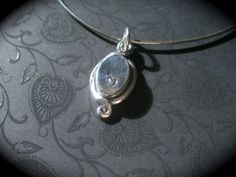 Fine Silver Oval Box Pendant with Tiny by DesignsByLizzBarnes, $125.00