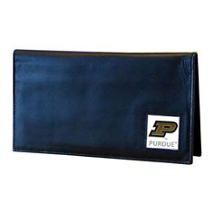 Siskiyou Ncaa Purdue Boilermakers Sports Team Logo Deluxe Leather Checkbook Cover