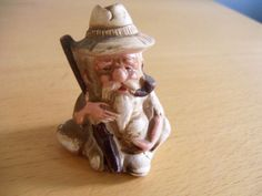 Old Man gun pipe drinking jug figurine salt shaker ONLY vintage smalls