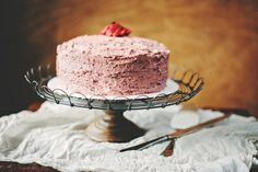 Roasted Strawberry Browned Butter Buttercream (From Lorie Roach, Mississippi Kitchen; rrj 060414 end)