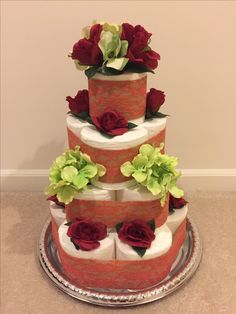 Toilet paper cake - bridal shower
