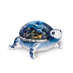Collectible Music Boxes   Ocean Baby Collectible Turtle Music Box With Sea Life Art: Perfect ...