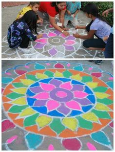 Rangoli Art from india Project- learn about how and why rangoli art is made, the common symbols, and how to make your own beautiful rangoli art with kids.