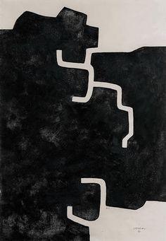 """Eduardo Chillida Grabado al Aguafuerte """"Hildokatu"""" 1981 93,5 x 64,5 cm Tirada de 50 Ejemplares Numerado HC y firmado a mano Van der Koelen nº 81010 Precio: 6.500€"""
