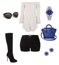 """Sin título #371"" by jocelin-cra on Polyvore featuring moda, Topshop, Jimmy Choo, LE3NO, Rolex y Effy Jewelry"