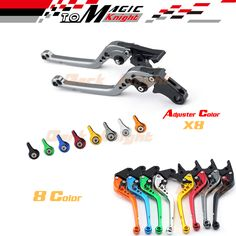 For HONDA NC700 NC750 CB400 CBR400 CBR600 CBR900 CBR250 MC22 Motorcycle CNC Billet Aluminum Long Brake Clutch Lever Titanium #Affiliate