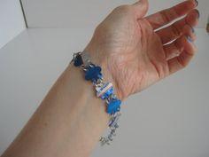 Upcycled Bud Light can bracelet