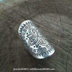 BOHO, Gypsy ring, Hippie ring, Bohemian style, Statement ring R025 JewelryBOHO-Handmade sterling silver BOHO Tribal ring