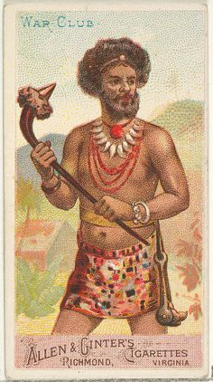 you can't wait for #inspiration. you have to go after it with a war club ― greenami #london | #war #club | the arms of all nations series for allen & ginter's #cigarettes #brands