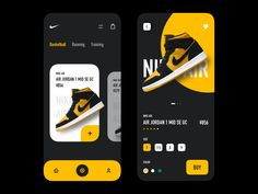 Nike App Shop designed by sealwang. Connect with them on Dribbble; Ios App Design, Mobile Ui Design, Interface Design, User Interface, Design Design, Flat Design, Nike App, Mobile App Ui, Mobile Web