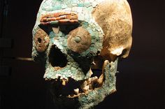 """Between 2008 and 2012, workers on a subway extension track of El Metro in Mexico City uncovered a number of human skulls dating from the Aztec imperial period. They appear to have been part of a tzompantli, or """"skull banner,"""" a rack where the skulls of sacrificial victims were proudly displayed. The grisly find included two male skulls, one female skull, and, weirdly enough, a dog skull. All of the"""