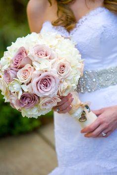 Blomsterbukett - rosa, hvitt