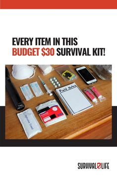 A budget survival kit could spell the difference between life and death. Everything you need to negotiate dangerous situations is all in one compact package. What type of items would you add to upgrade your budget survival kit? Feel free to share your thoughts in the comment section below! #SurvivalKit #BudgetSurvivalKit #SurvivorPack Survival Life, Survival Prepping, Life And Death, Spelling, Grid, Compact, Budgeting, Notes, Thoughts