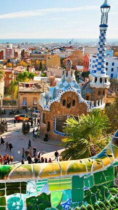 Barcelona Spain, Gaudi Park ~ when I first saw Gaudi's work I thought it looked like something out of a comic book. The more I saw the more I was drawn to it. Beautiful! #TravelBuff