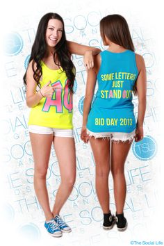 Some Letters Just Stand Out #AlphaPhi #APhi #BidDay #neon #sorority #TSL #TheSocialLife