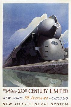 Dieselpunk:  #Dieselpunk Travel Poster for New York, Leslie Ragan.