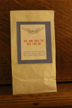 Airplane Themed Party Favor Bags by Cinnamonrays on Etsy, $15.00