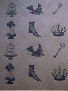 Vintage Victorian Royal Round Label Stickers by ThePaperSnail, $5.00
