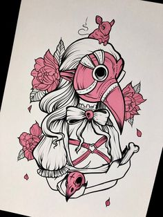 Goth Tattoo, Anime Tattoos, Art Drawings Sketches, Tattoo Drawings, Tattoo Art, Cute Tattoos, Body Art Tattoos, Kawaii Tattoos, Pastel Goth Art