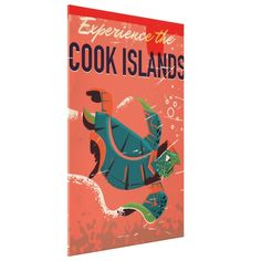 Experience the cook islands vintage travel poster canvas print