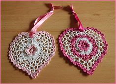 Two pink hearts embossed-