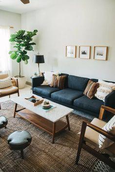 Home Decor Bedroom, Interior Design Living Room, Living Room Designs, Interior Modern, Bohemian Living Rooms, Chic Living Room, Cozy Living, Small Living, Living Room Decor Simple
